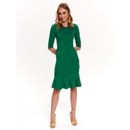 Top Secret Šaty dámské zelené s volánkem