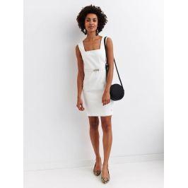 Top Secret Šaty dámské bílé bez rukávu