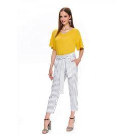 Top Secret Kalhoty dámské STARYS pruhované z lněného materiálu