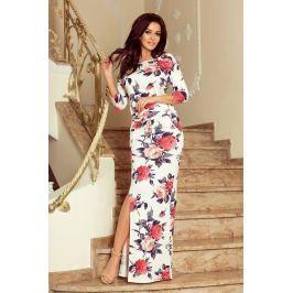 Numoco šaty dámské GEEN IV dlouhé květované, maxi