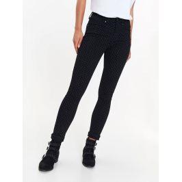 Top Secret Kalhoty dámské černé s puntíky