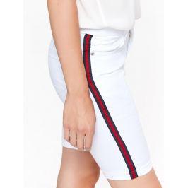 Top Secret Kraťasy dámské jeans bílé s bočním pruhem