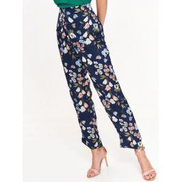 Top Secret Kalhoty dámské tmavě modré s květinovým potiskem