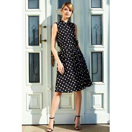 Moodo šaty dámské LEONA s puntíky na knoflíky