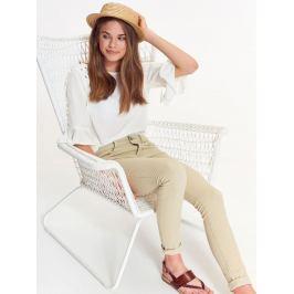 Top Secret Kalhoty dámské bavlněné béžové