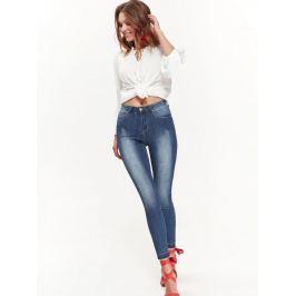Top Secret Jeansy dámské SKINNY sepraný vzhled