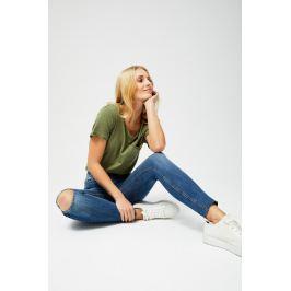 Moodo Jeansy dámské s průstřihem na koleni