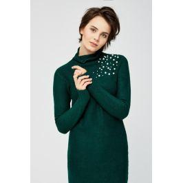 Moodo šaty dámské z pleteného materiálu zdobené perličkama