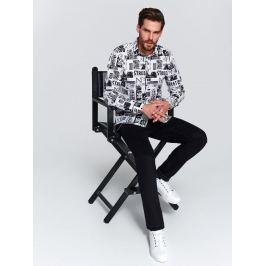 Top Secret Košile pánská TISKY s dlouhým rukávem