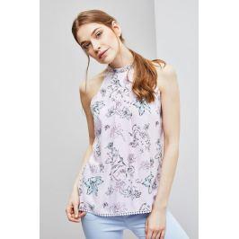 Moodo Košile dámská vzorovaná bez rukávu se zapínáním na zadním díle