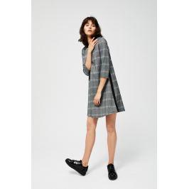 Moodo šaty dámské se vzorem kostky a 3/4 rukávem