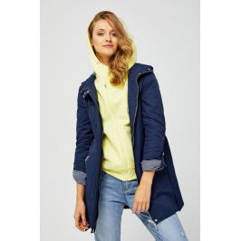 Moodo Bunda dámská s kapucí na zip a zavazovacím páskem