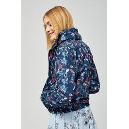 Moodo Bunda dámská RYA na zip květovaná s kapucí