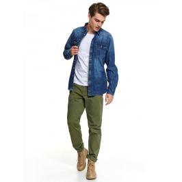 Top Secret Košile pánská KOVYX s dlouhým rukávem, jeans