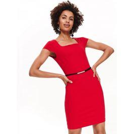 Top Secret Šaty dámské červené s páskem