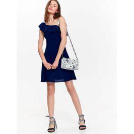 Top Secret šaty dámské tmavě modré s ohalenými rameny