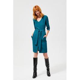 Moodo šaty dámské REWASA s 3/4 rukávem s páskem