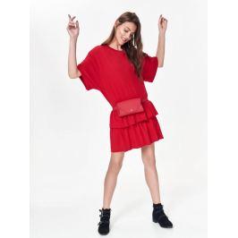 Top Secret Šaty dámské červené s volánkem