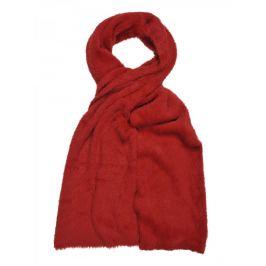 Top Secret šála dámská červená z příjemného vysokého chlupu