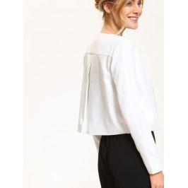 Top Secret Sako dámské bílé na zip s dlouhým rukávem