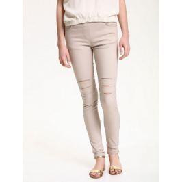 Top Secret Kalhoty dámské úzký střih s průstřihy na stehnech