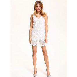 Top Secret šaty dámské bílé krajkové bez rukávu
