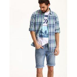 Top Secret Košile pánská kostičkovaná dlouhý rukáv