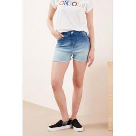 Moodo Kraťasy dámské jeans s třepením
