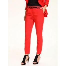Top Secret Kalhoty dámské červené společenské s páskem