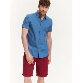 Top Secret Košile pánská modrá se vzorem a krátkým rukávem