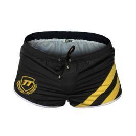Pánské šortkové plavky TQQT - Humble Bee Barva: Černá, Velikost: XL