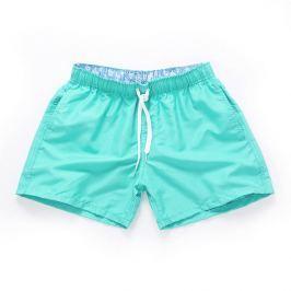 PLAVKY 3+1 ZDARMA Víceúčelové pánské šortkové plavky v 17 barvách! Barva: Cyan/Zelenomodrá, Velikost: XXL, Velikost dle značky: (96-101cm)