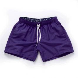 PLAVKY 3+1 ZDARMA Víceúčelové pánské šortkové plavky v 17 barvách! - Purple/Fialová Barva: Fialová, Velikost: XL