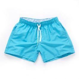 PLAVKY 3+1 ZDARMA Víceúčelové pánské šortkové plavky v 17 barvách! Barva: Sky Blue/Modrá, Velikost: L, Velikost dle značky: (86-91cm)
