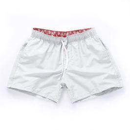 PLAVKY 3+1 ZDARMA Víceúčelové pánské šortkové plavky v 17 barvách! Barva: White/Bílá, Velikost: XXL, Velikost dle značky: (96-101cm)