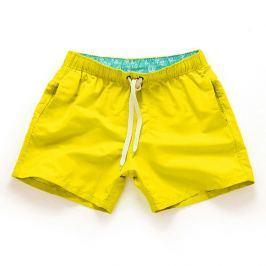 PLAVKY 3+1 ZDARMA Víceúčelové pánské šortkové plavky v 17 barvách! - Yellow/Žlutá Barva: Žlutá, Velikost: XL