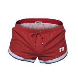 Pánské boxerkové plavky TQQT - Racing red Barva: Červená, Velikost: M