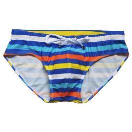 Pánské Push-up plavky s vyjímatelnou vložkou a proužky Barva: Tmavá modrá/Pro obvod pasu (80-85cm), Velikost: M