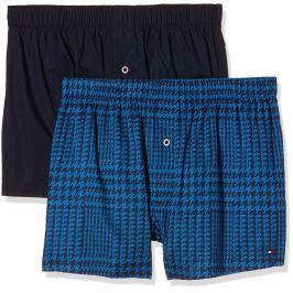 Volné boxerky Tommy Hilfiger 2 balení Peacoat Brilliant Blue Velikost: M, Velikost dle značky: Pro obvod pasu (86-90cm)