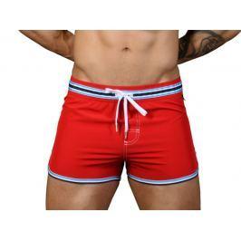 Andrew Christian šortkové plavky RIVIERA Swim Shorts Red Barva: Červená, Velikost: M