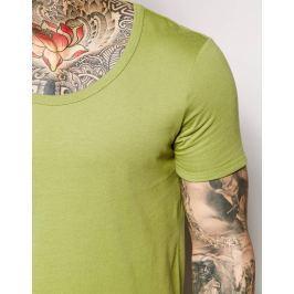 ASOS triko Scoop neck - Zelená Barva: Olivová zelená, Velikost: S