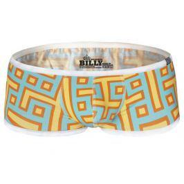 AussieBum ★OFFICIAL★ AussieBum Billy Hipster boxerky z kolekce MAZE Orange Barva: Modro-oranžová, Velikost: XL, Velikost dle značky: (90-95cm)