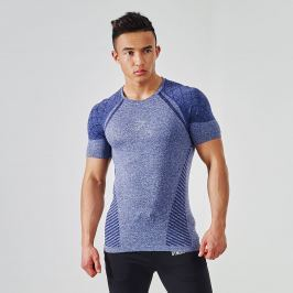 Bezešvé triko GYMSHARK Devant Seamless Navy Blue - Modrá Velikost: M