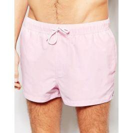 Krátké šortkové plavky ASOS v lososové barvě Barva: Starorůžová, Velikost: XL, Velikost dle značky: (91-96cm)