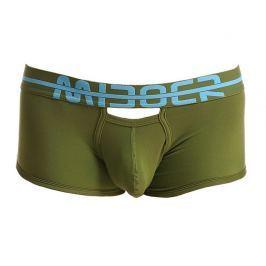 MIBOER Novelty boxerky s extra otvory proti pocení  - Olive Barva: Olivová, Velikost: M, Velikost dle značky: (78-84cm)