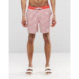 Pánské šortkové plavky ASOS - Geo Print Barva: Jako na obrázku, Velikost: XL, Velikost dle značky: (91-96cm)