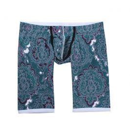 WangJiang Sexy prodloužené boxerky se sníženým LOW RISE pasem - Persian Velikost: XL, Velikost dle značky: (Pas 94-99cm) Délka 41cm