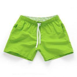 Víceúčelové pánské šortkové plavky v 17 barvách! Barva: Emerald green/Limeta, Velikost: M, Velikost dle značky: (81-87cm)