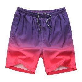 Výrazné dvoubarevné šortkové plavky Gradient - Nachová Barva: Nachová, Velikost: M, Velikost dle značky: (76-88cm)