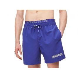 Šortkové plavky CALVIN KLEIN DOUBLE Waistband KM0KM00385 Barva: Modrá, Velikost: S